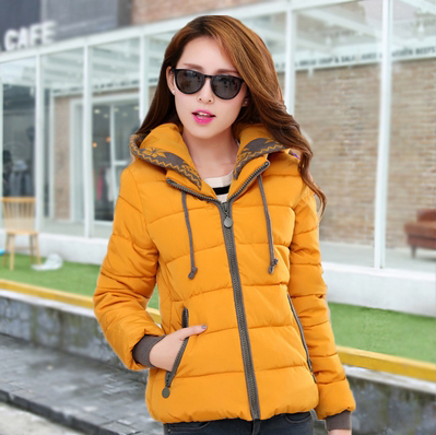 ФОТО Nice New Winter Jacket Women Short Slim Thick Women's Down Jacket Hooded Outerwear Cotton Padded Women's Winter Jacket AW1121