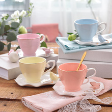 British Elegant Butterfly Bird Bone China Coffee Cup Saucer Set 220ml Ceramic Teacup Europe Porcelain Tea Cup Cafe Drinkware