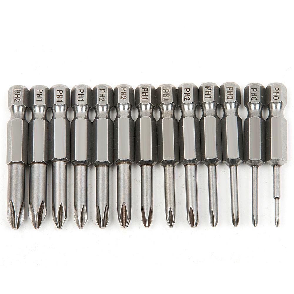 13 db S2 acél keresztfejű csoport, 50 mm-es mágneses fúró csavarhúzó készlet, csavarhúzó csavarhúzó készlet, kézi szerszámok