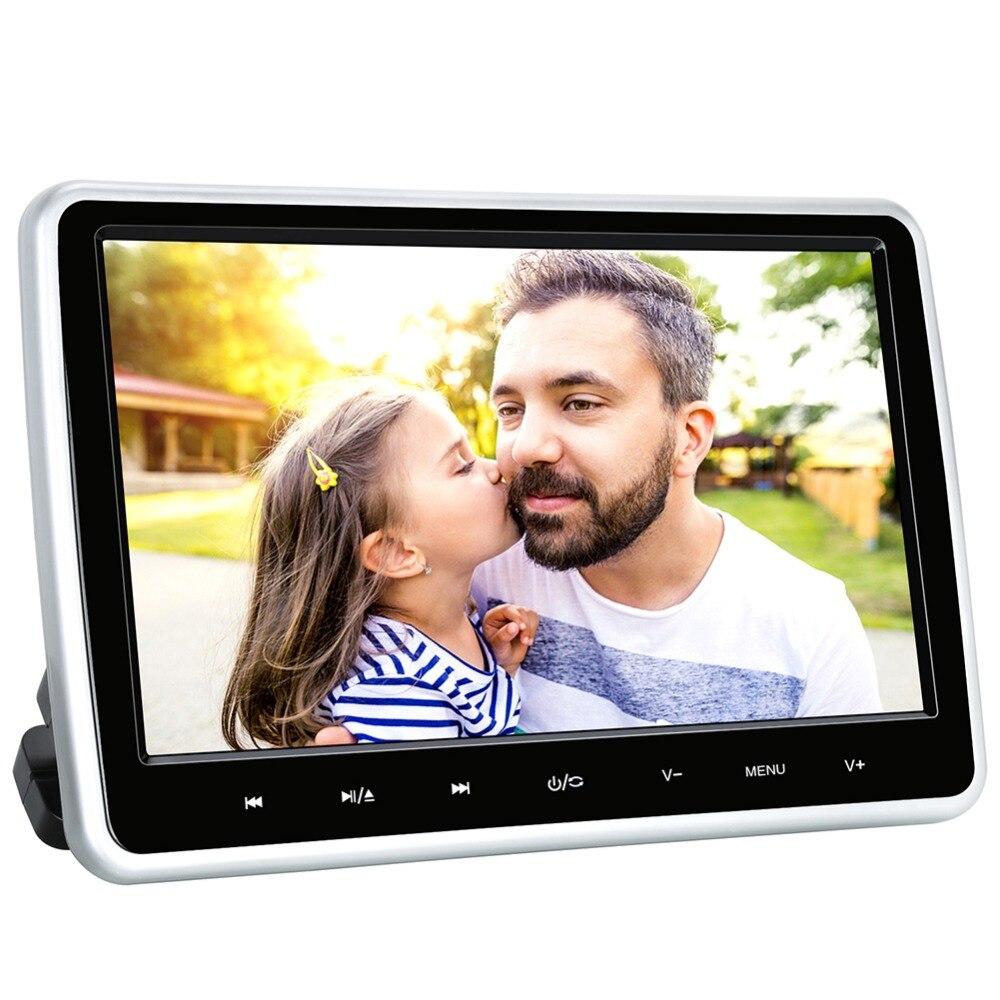 Citrouille 10.1 ''voiture appuie-tête lecteur DVD HD LCD TFT 1024*600 lecteur d'écran tactile avec Port HDMI moniteur de voiture intégré USB/SD Slot