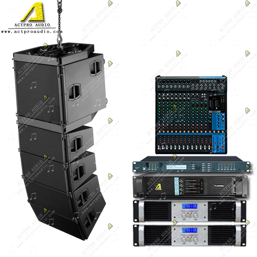 V8 J8 Q1single 10inch  Double 10inch Double 12inch  Active Line Array Sound System Professional Speaker Line Array Loudspeaker