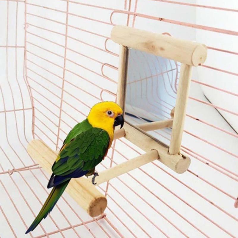 Wooden Pet Toy Mirror