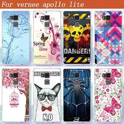 """Vernee apollo lite Case Cover New Painted Water Rose Spider Skull Flowers Hard PC Back Cover For Vernee apollo lite 5.5"""" Phone"""