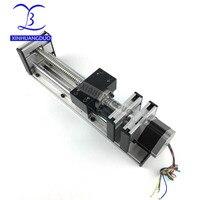 Linear Stage Actuator 100MM Ball Screw Slide Rail Linear Motion Guide Moving Table Slip way+ 1Pcs Nema 23 motor 57 Stepper Motor