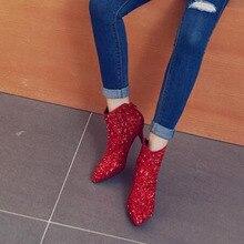 e71de3656e Compra red glitter boots y disfruta del envío gratuito en AliExpress.com