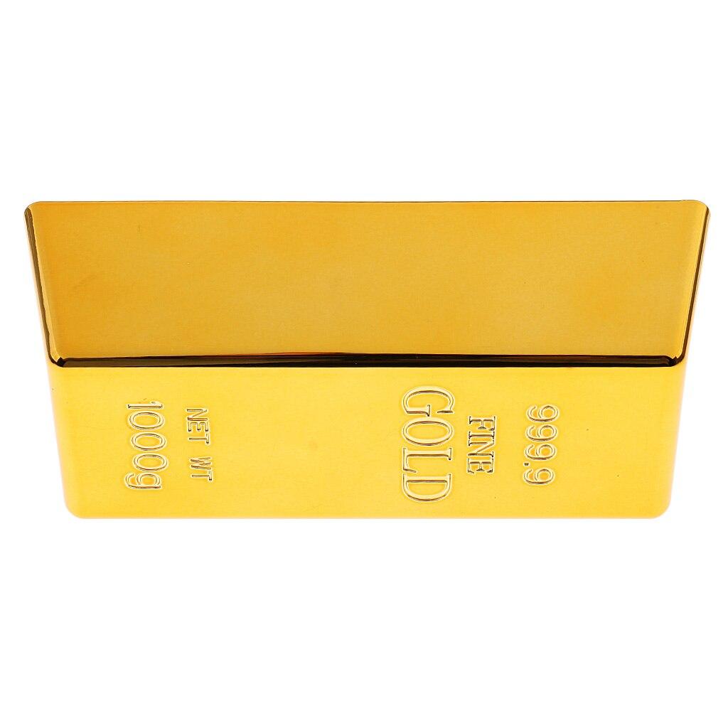 1kg Creative Fake Gold Bar Bullion Door Stop Heavy Brick Paperweight