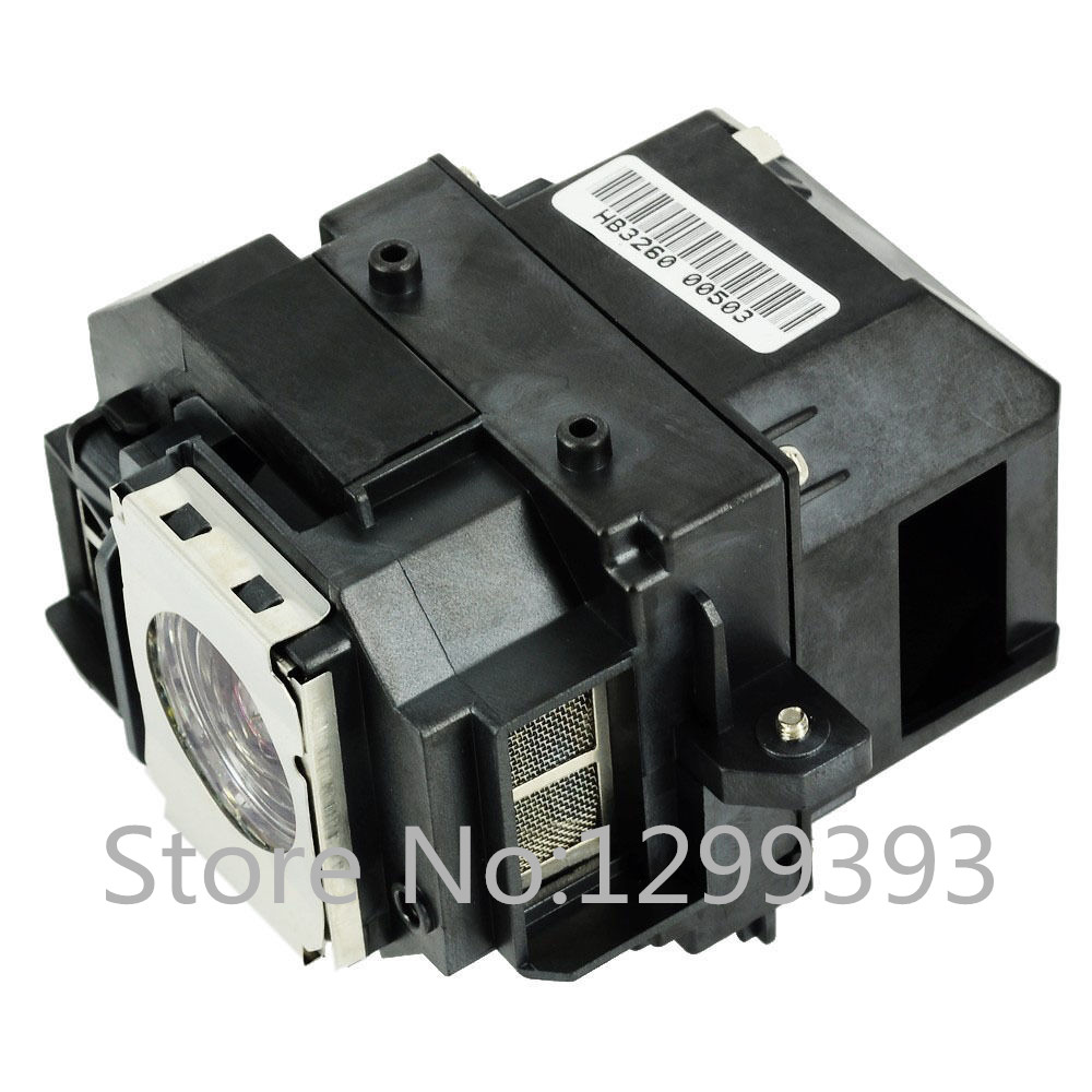 ELPLP58 for EX3200/EX5200/EX7200 PowerLite 1220/1260/S9/X9/S10+ VS200  Compatible Lamp with Housing