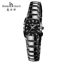 cc5f992cd88 2018 Marca de Luxo Mulheres Vestido Relógios Com Caixa de Relógio Calendário  de Quartzo das Mulheres