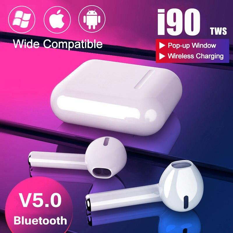 i90 TWS Pop-up 1:1 size Replica Wireless Headphone 6D Super Bass Bluetooth Earphone 5.0 i90 tws PK i30 i20 i12 i11 i10 i7s tws