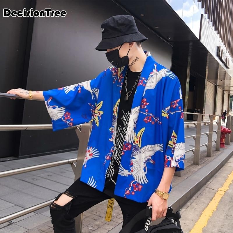 2019 Men Cotton Linen China Style Kongfu Coat Male Loose Kimono Cardigan Overcoat Open Stitch Coat Male Windbreaker