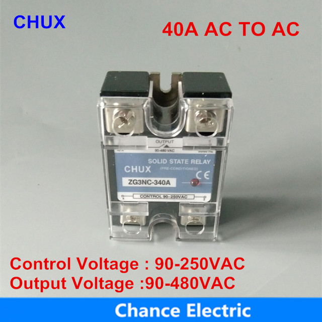 ssr 40a 220v ac-ac single phase solid state relay 40a (ssr-40aa)