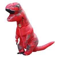 New T Rex Kid Inflatable Costumes Halloween Party Dinosaur Cosplay Costume For Girls Boys Inflated Garment with Free Fan