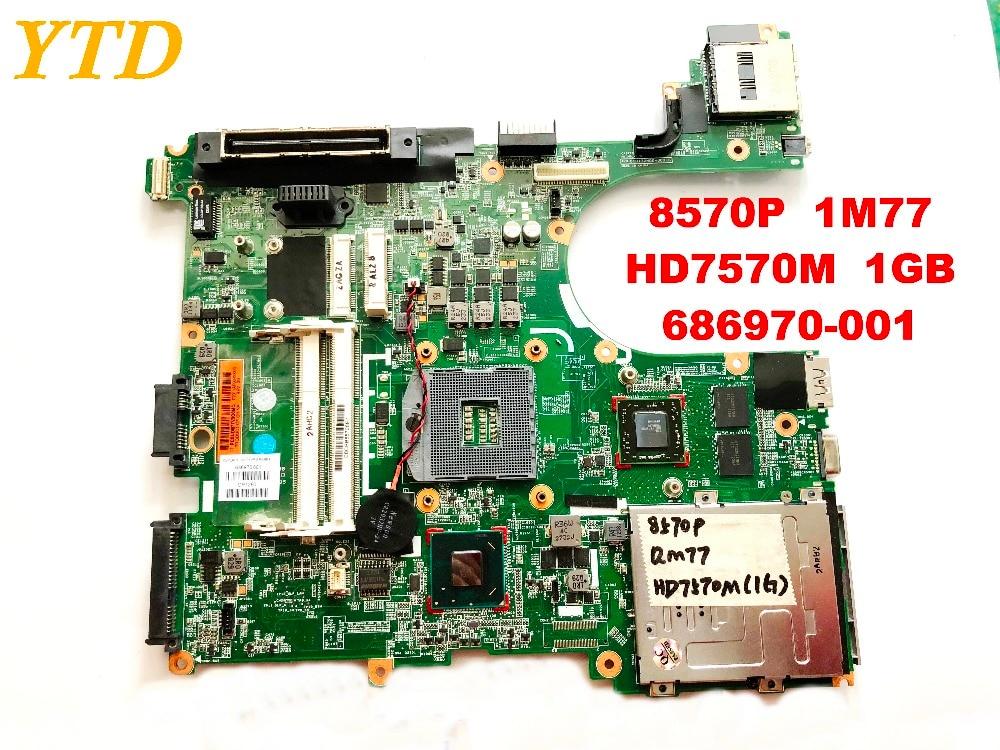 Original for HP 8570P font b laptop b font font b motherboard b font 8570P QM77