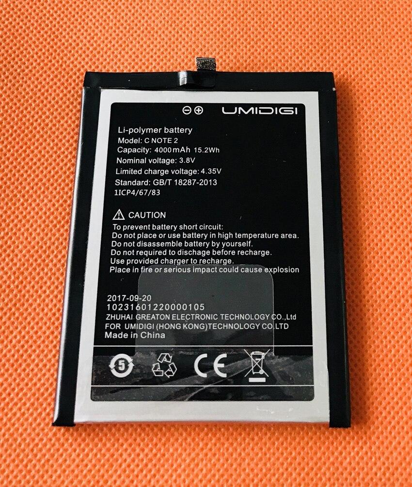 Used Original 4000mAh Battery Batterie Batterij Bateria For UMIDIGI C NOTE 2 MTK6750T Octa Core 5.5 Inch FHD