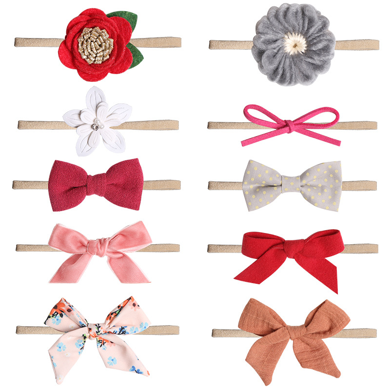 Baby Bows Newborn Girls Flower Headband Boneless Comfort Infant Princess Headdress Baby Girl Turban Headwear Hair AccessoriesBaby Bows Newborn Girls Flower Headband Boneless Comfort Infant Princess Headdress Baby Girl Turban Headwear Hair Accessories