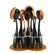 12 Hole Oval Makeup Brush Holder Drying Rack Organizer Cosmetic Shelf pennelli trucco pennelli trucco pinceis de maquiagem OT20
