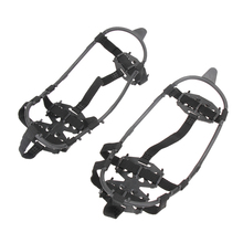 1 Pair 24-Stud Universal Crampons Ice Non-Slip Snow Shoes Spikes Grips Hiking Climbing Walking Cleats Travel Kits 2 Sizes Choose