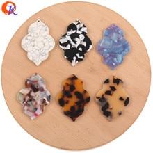 Design cordial 34*48mm 50 pces acessórios de jóias/brincos conectores/diy fazendo/ácido acético/feito à mão/joias descobertas componente