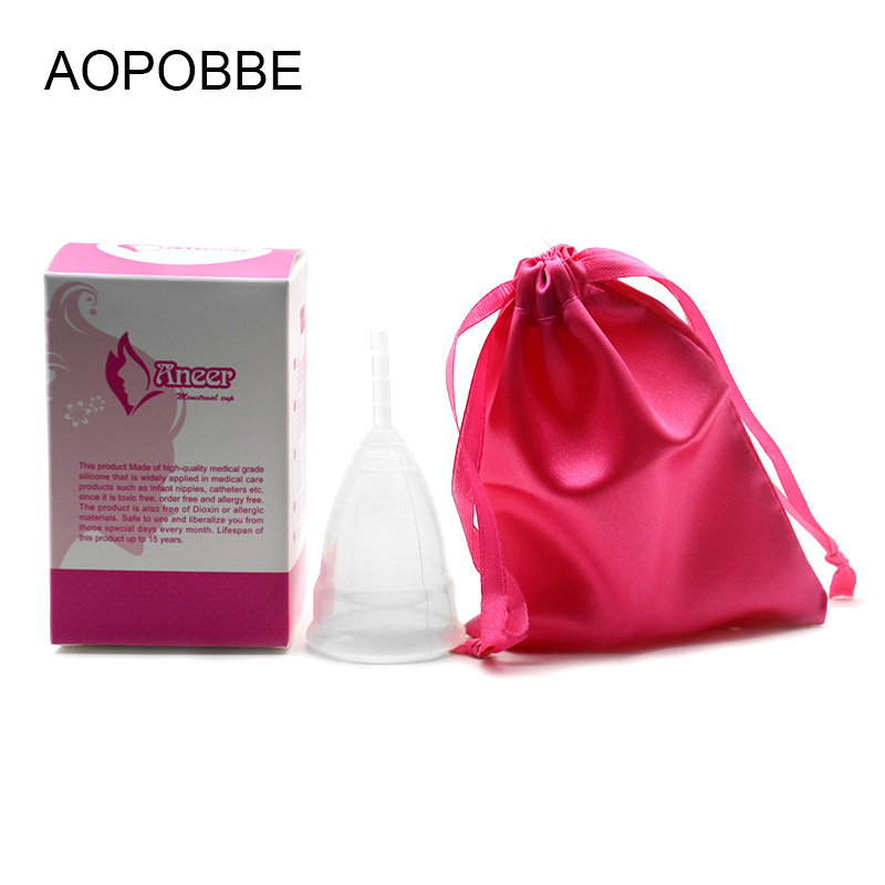 20 pcs Lot Aneer Copo Menstrual Silicone Menstrual Cup For Women Feminine Hygiene Product Menstrual Care