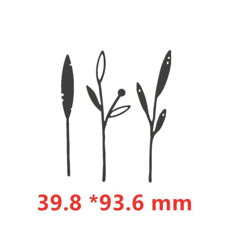 Васильковые травы эвкалиптовая ветка цветы металлические Вырубные штампы для поделок скрапбукинга бумажные открытки, декоративные поделки новые штампы - Цвет: Picture 9