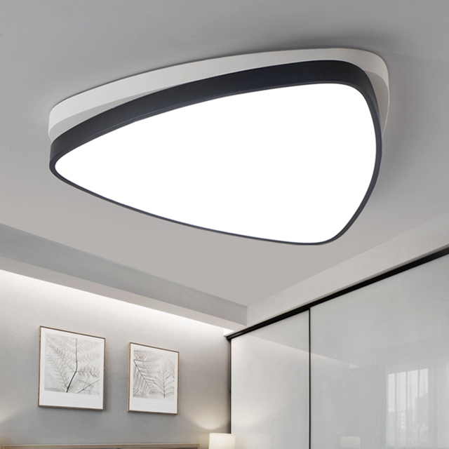 Modern triangle led panel surface mounted ceiling lamp whiteblack modern triangle led panel surface mounted ceiling lamp whiteblack bathroom lighting ac110 240v luminarias para in ceiling lights from lights lighting on aloadofball Choice Image