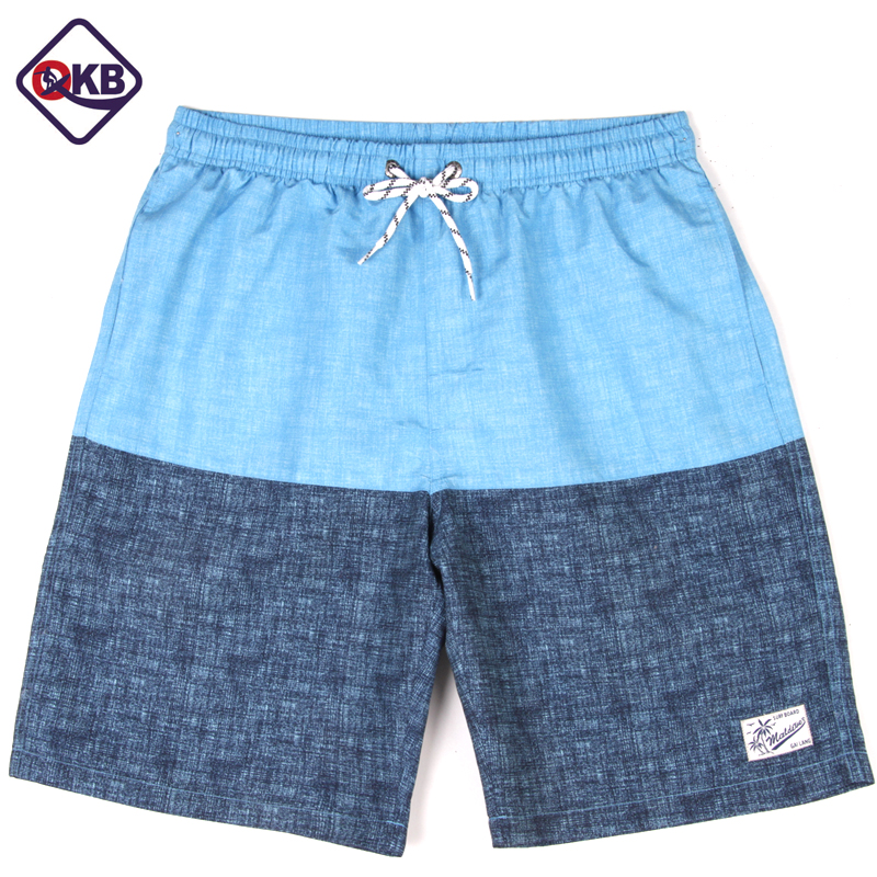 Qikerbong New Style S18 Men Solid Patchwork   Shorts   Summer   Shorts   Men Hot Beach   Shorts   Men   Board     Shorts   Plus Szie M-XXXL