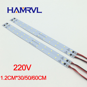 Image 3 - 10 pièces ca 220v LED bande rigide sans conducteur pour T5 T8 Tube, 5w 6w 8w 10w SMD 5730 2835 led pcb barre lumineuse pas besoin de puissance blanc