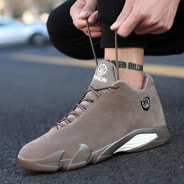 Weweya Newest Men Basketball Shoes Air Sole Outdoor Sneakers High Top Sport Athletic Hot Black Gray Mans Zapatillas Baloncesto