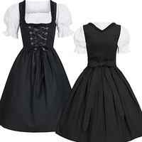 Lolita gott bind On The Back Bowknot Dress Maid Costume Sweet Gothic Anime Cosplay Sissy Maid Uniform Plus Size Halloween Cos