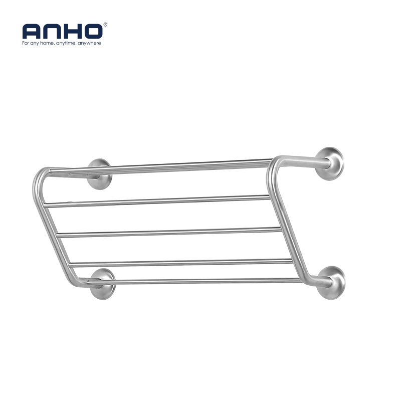 Stainless Steel Bathroom Wall Mounted Towel Rack Bathrobes Bath Towel Racks Bathroom Towel Shelf Storage Organization simple style sus304 stainless steel bathroom wall mounted towel rack bathrobes