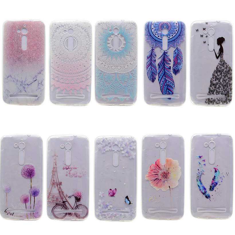 AKABEILA Phone Bags Cases For ASUS ZenFone Go Case Soft Silicone 1MM Clear TPU Phone Back Covers ZB500KL ZB500KG Durable Shell