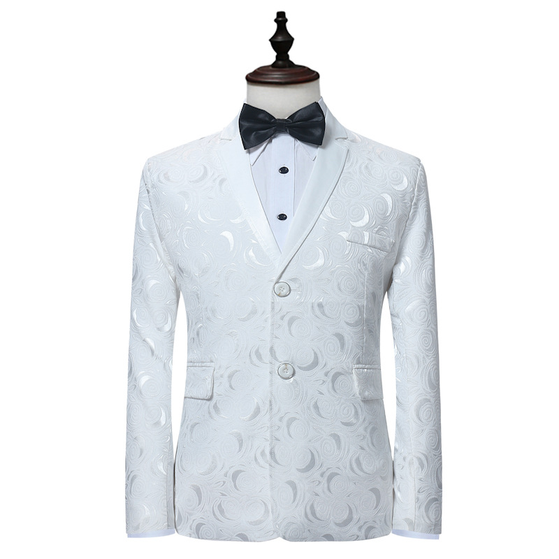 Us 544 20 Offautumn And Winter New Mens Hot Casual White Suit Single Row Two Button Suit Jacket Wedding Groom Groomsmen Dress In Suit Jackets