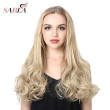 SARLA – demi-perruque u-part Loose Wave longue 20 pouces pour femmes, postiche synthétique à Clip, Extensions capillaires en Fiber résistante à la chaleur