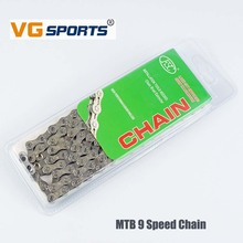 VG Sports  9-Speed MTB Bicycle Chain Ultra-light Cassette Mountain Highway Vehicle Folding Variable Speed