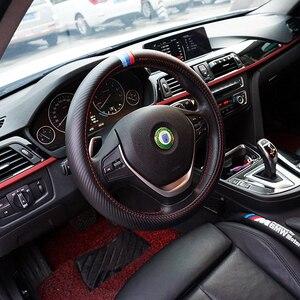 Image 2 - SRXTZM 38cm Car Steering Wheel Cover Carbon Fiber Protection For BMW X1 X3 X5 X6 E36 E39 E46 E30 E60 E90 F30 320i 325i 330i