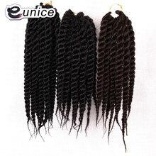 12 дюймов Гавана Мамбо твист вязание крючком коса волос Marley твист плетение волос для наращивания 12 прядей 80 г/в упаковке Eunice волос