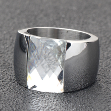 Fashion Women's Wide Crystal Ring