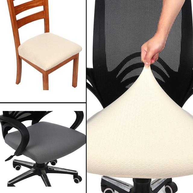 Жаккардовый сплошной цвет Современный домашний декор накидка на стул эластичная стрейч чехлы из спандекса Банкетный короткий Чехол для стула для офиса