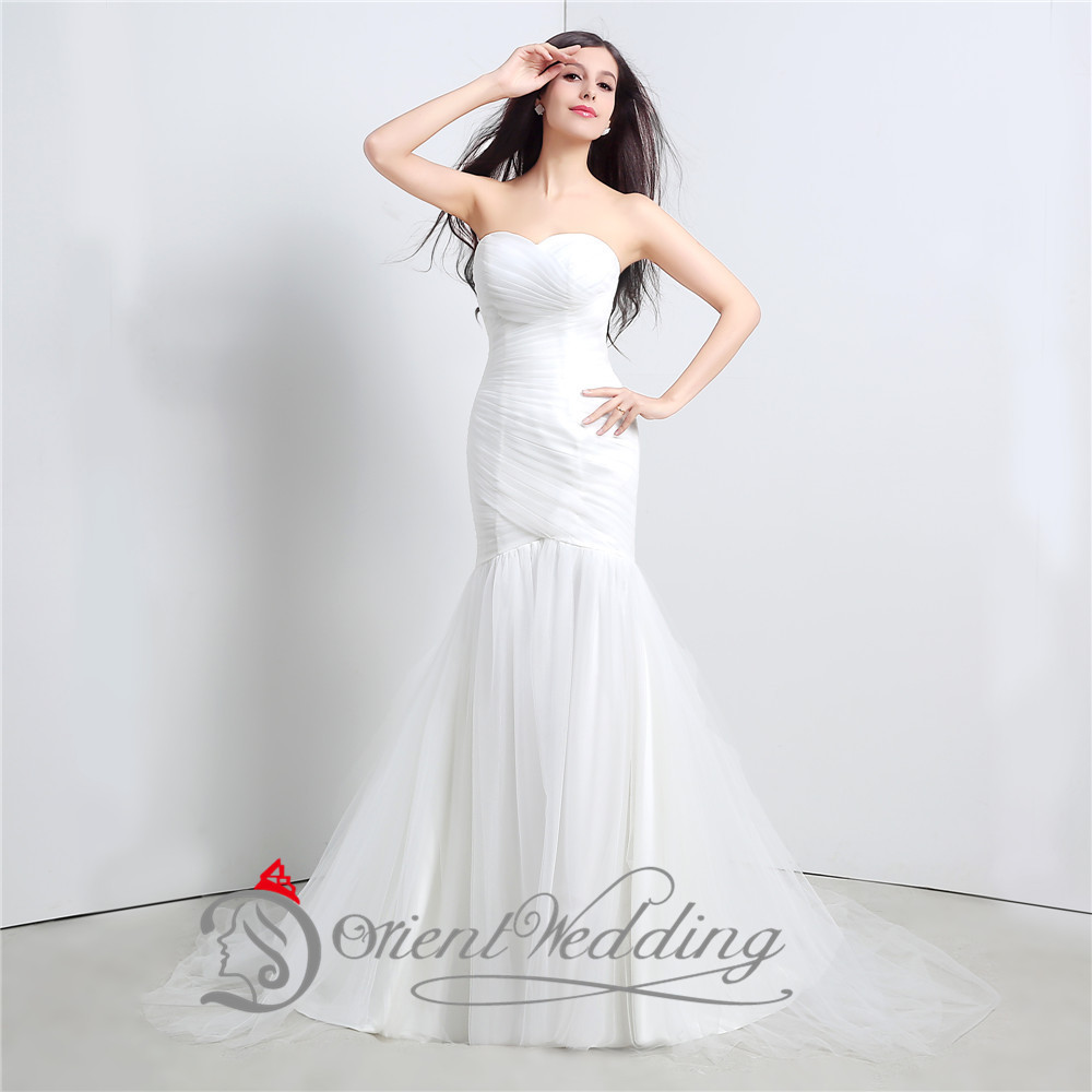 White Sexy Mermaid Wedding Dresses In Stock Real Picture