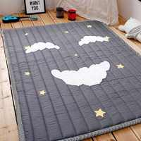 Simple Pattern Baby Play Mats Kids Crawling Carpet Cotton 2.5CM Thick Soft Mat No Smell Safe Blanket Rug Nordic Style