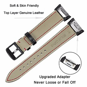 Image 3 - Genuine Leather Watchband for Samsung Gear Fit2 R360 / Fit 2 Pro R365 Replacement Watch Band Steel Clasp Strap Wrist Bracelet
