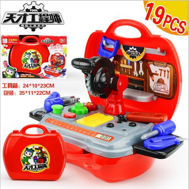 Pretend Spielen Spielhaus Spielzeug/kinderspielzeug Diy Reparatur Werkzeuge Simulation Tool Suite 19 Teil/satz Kaufen Sie Immer Gut