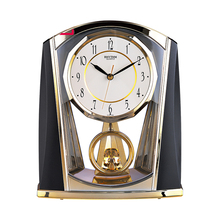 6 Inch Needle Desk Clock Silent Quartz  Movement Table Clock Crystal Slow Swing Pendulum for Living room, bedroom, office