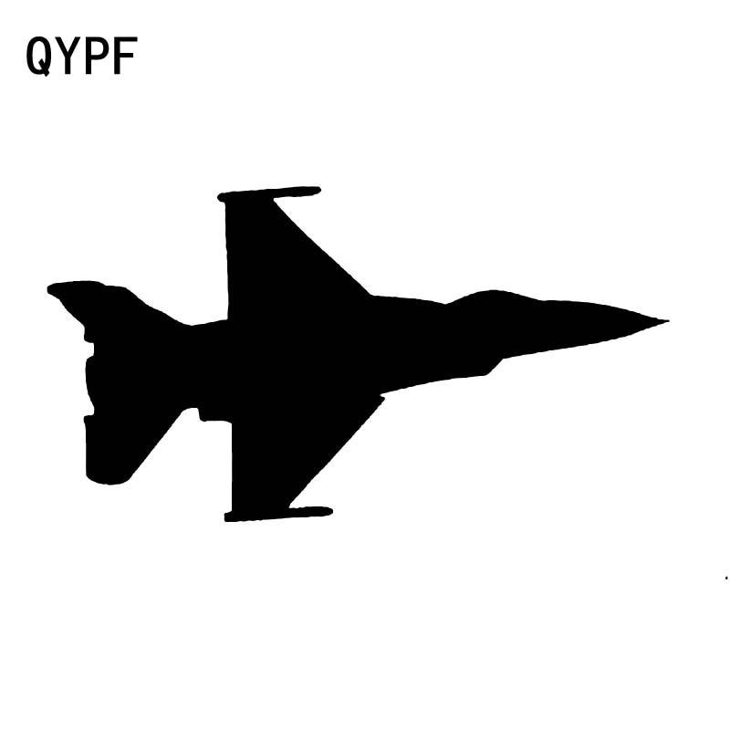 QYPF 17cm*9.1cm Interesting Plane Helicopter Airplane Aircraft Jet Fighter Translucent Car Sticker Vinyl Vivid Decal C18-0614
