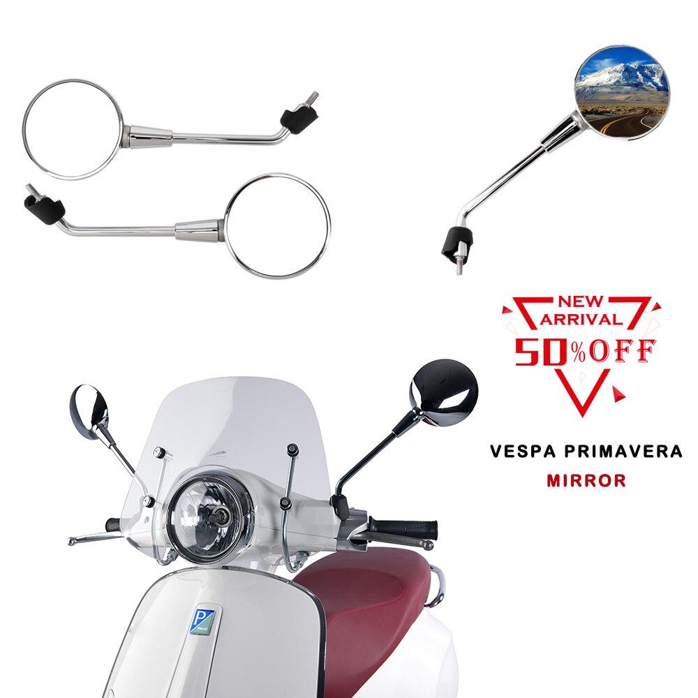 Espelhos da motocicleta Espelho Retrovisor Para A vespa Primavera 2 T 4 50 125 150 T 2015 2016 2017 2018 acessórios da motocicleta