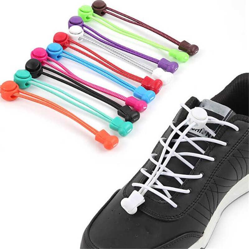 تمتد قفل الدانتيل 12 ألوان زوج من قفل أربطة أحذية أربطة أحذية رياضية من المطاط shoechains الجري/الركض/الترياتلون