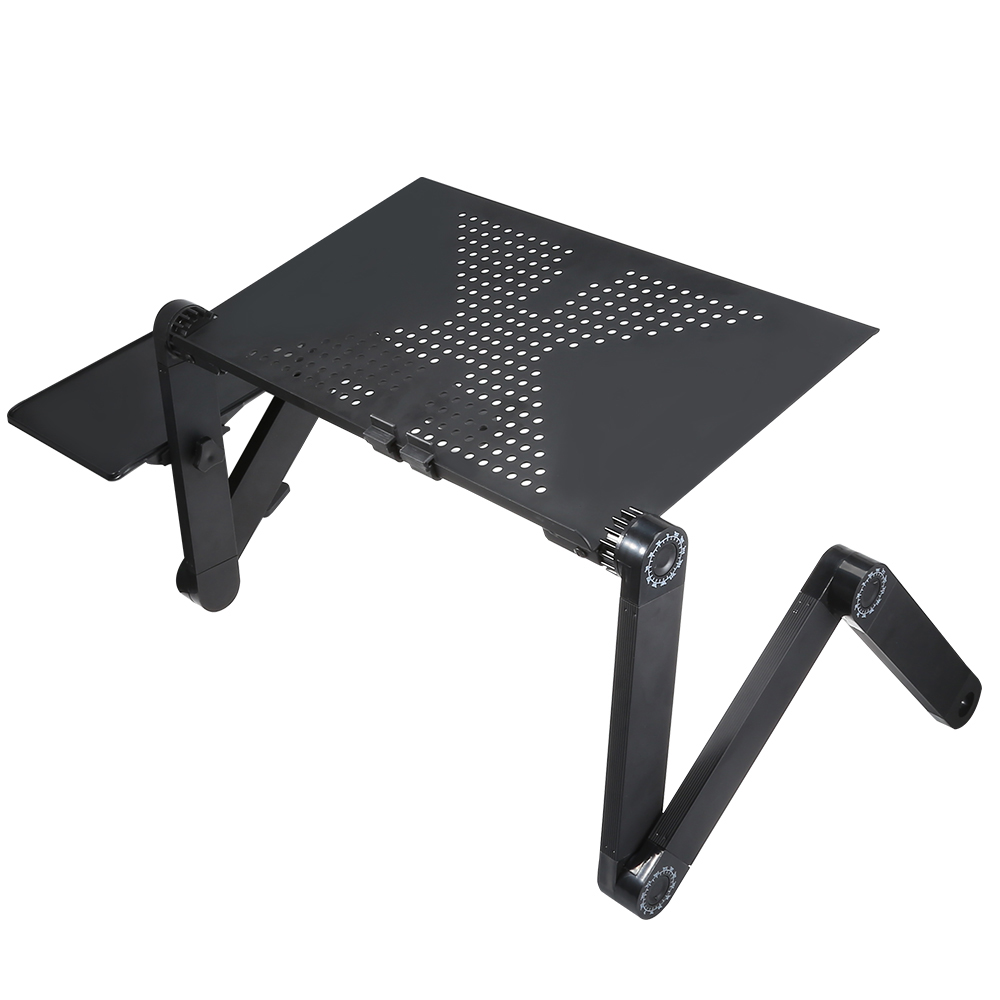 Adjustable Computer Desk Table Folding Laptop Notebook Stand Bed Tray Computer Desks Foldable Desk Z30 folding computer desk multifunctional light foldable table dormitory bed notebook small desk picnic table laptop bed tray