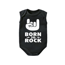 Born to Rock Baby Bodysuit cotton Cool Clothes New Gifts Alternative Star 0-12M