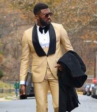 3Pcs Lapel Groomsmen Tuxedo Men Suits Wedding/Prom/Dinner Best Man Blazer Custom