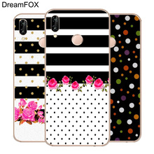 DREAMFOX M277 Polka Dots Line Soft TPU Silicone Case Cover For Huawei Honor 6A 6C 6X 7A 7C 7S 7X 8 Lite Pro